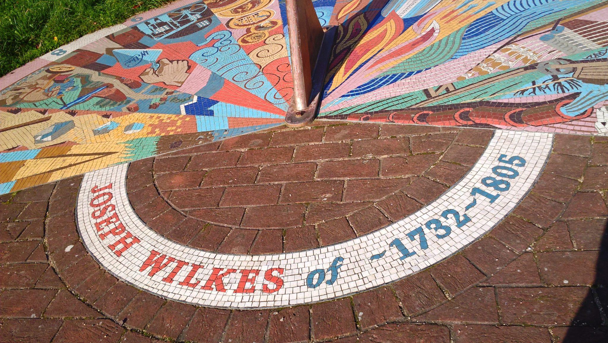 Photograph of the Joseph Wilkes sundial in Measham