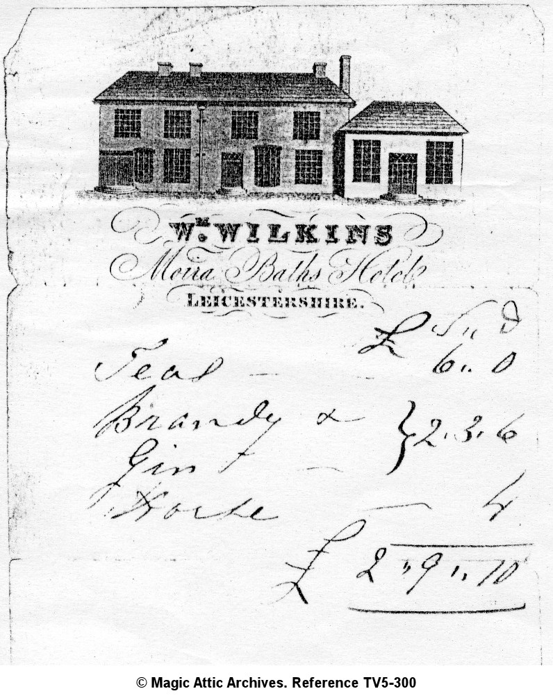 Receipt from Moira Baths