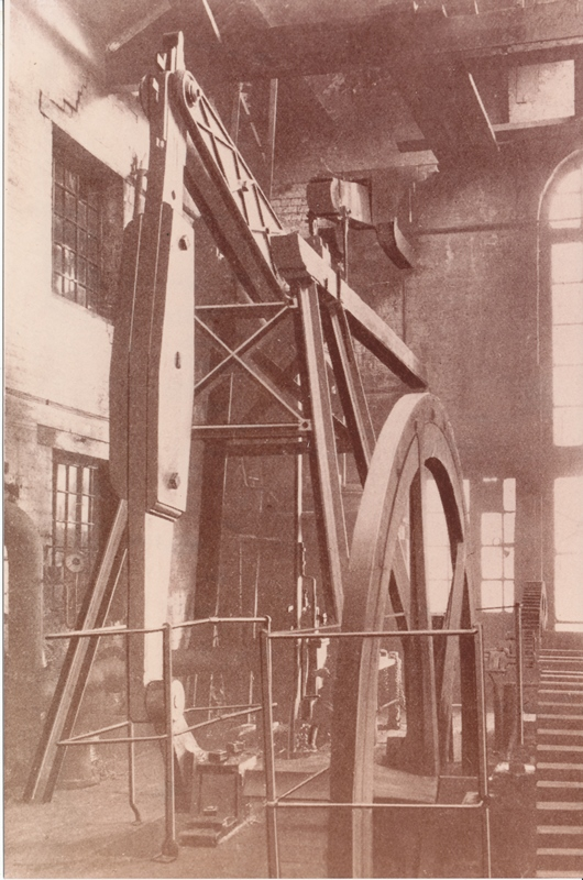Early photograph of the atmospheric engine at Reservoir Colliery