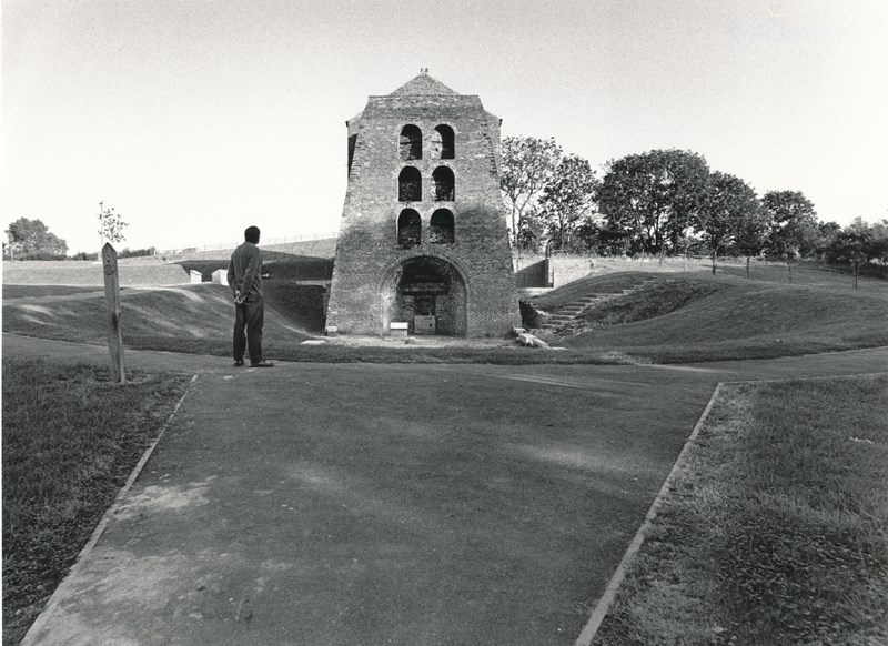 Black and white photo of Moira Furnace