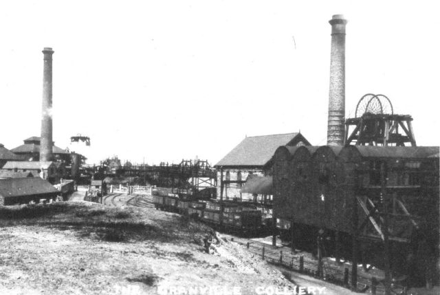 Black and white photo of Granville Colliery